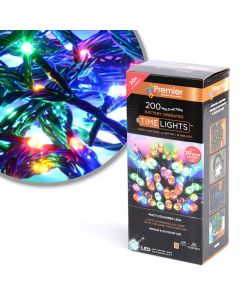 Premier Decorations 200 Multi-Coloured LED Lights