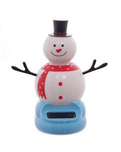 Solar Powered Wobbling Snowman