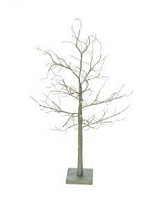 1.2m LED Glitter Twig Christmas Tree - Silver