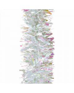 White Chunky 10cm Christmas Tinsel Silver - 2 Metres