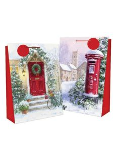Large Christmas Gift Bag - Snowy Scene