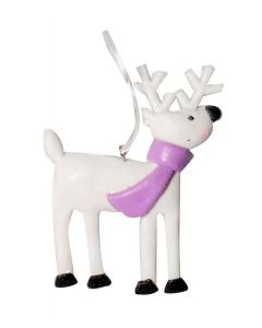 Festive White Claydough Christmas Reindeer