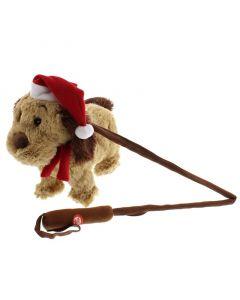 Festive Walking & Singing Animated Christmas Dog