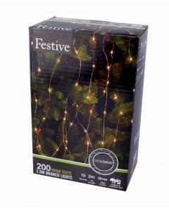 Festive LED Silver Branch Light - 2m