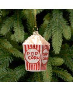 Festive Glass Popcorn Box 10cm