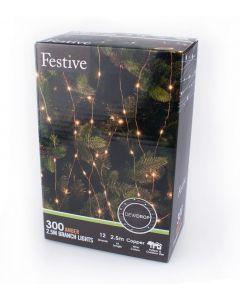 Festive LED Amber Branch Lights - 2.5m
