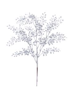 Festive 63cm Silver Mini Leaf Spray