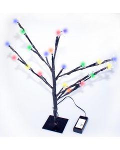 Festive 45cm Multi-Coloured Christmas Blossom Tree