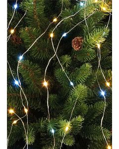 Festive Branch Light Silver Wire White/Warm White 250cm