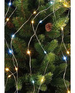 Festive Branch Light Silver Wire White/Warm White 200cm