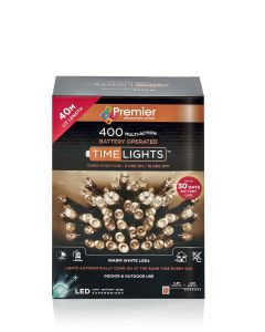 400 Multi Action Battery-Operated LED Warm White Christmas Lights