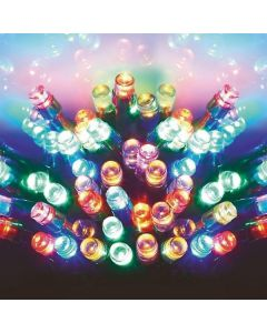400 Multi Action Battery-Operated LED Multi-Coloured Christmas Lights