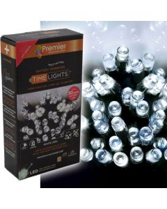 600 Multi Action Battery-Operated LED Cool White Christmas Lights