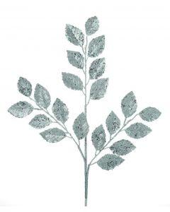 Premier Decorations 72 cm Silver Glitter Leaf Stem