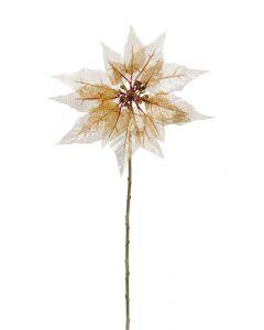 46cm Gold Poinsettia Stem
