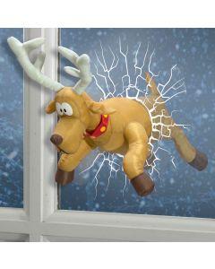 Animated Reindeer Through Window - 55cm