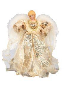 Premier Tree Top Angel Ivory/Gold  30cm