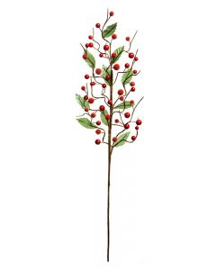 Premier Decorations 70 cm Red Bead And Leaf Stick