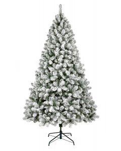 1.5M Flocked Woodcote Spruce Christmas Tree