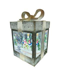 Christmas Water Spinner Lantern - Snowman Scene