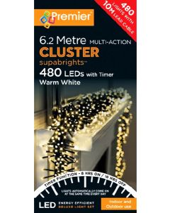 Premier 480 Multi-Action Cluster Warm White With Timer