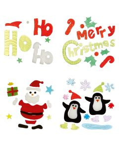 Premier Decorations 20-25 cm Santa Penguin Merry Christmas Stickers