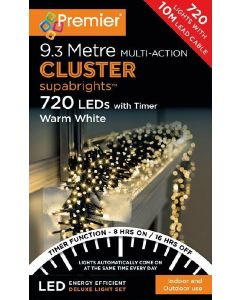 Premier 720 Multi-Action Clusters Warm White With Timer