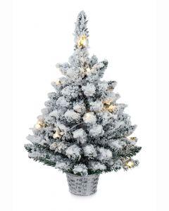Premier 60cm Pre Lit Flocked Christmas Tree