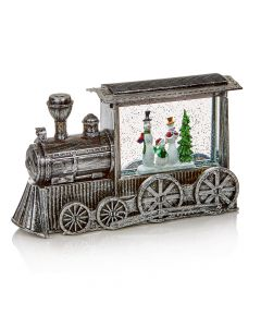 Premier Decorations 29 cm Silver Train Water Spinner