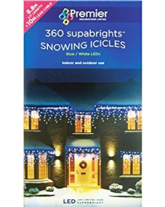 Premier 360 LED Snowing Icicles Blue/White