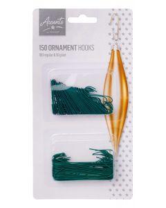 Ornament hooks Green Pack of 150