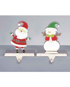 Santa or Snowman Stocking Hanger - 15cm