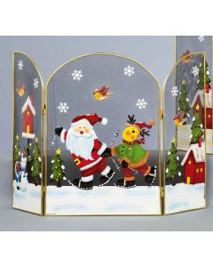 Premier Decorations Skiing Santa Fireguard - 49cm