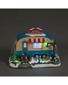 Snowtime Caravan & Family Festive Scene