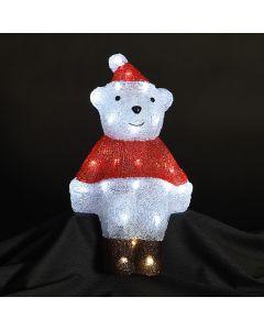 Christmas Light-Up Acrylic Bear