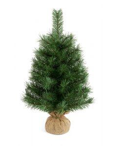 Premier Decorations 60 cm Burlap Table Green Christmas Tree