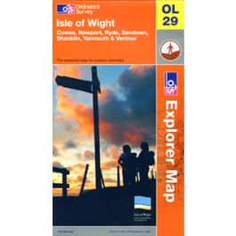 Isle of Wight Newport Sandown Cowes Ryde Shanklin Yarmouth /& Ventnor OS Explorer Map