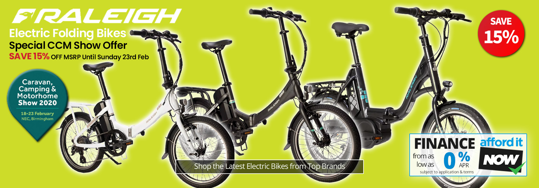 Save on Raleigh Electric Folding Bikes