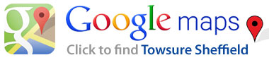 Google Maps - Directions to Towsure Sheffield